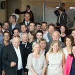 Les Vignerons de Provence et membres de l'Association Monégasque des Sommeliers avant l'arrivée de la délègation du Concours du Meilleur Sommelier d'Europe 2013.