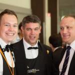 Jan-Willem Van der Hek (Candidat des Pays Bas), Dominique Milardi (Candidat de Monaco), et Frédréic Woelfflé (Vice-président des Sommeliers de Monaco)