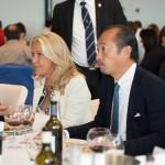 Valérie Roussel du Château Roubine et Shinya Tasaki, Président de l'Association de la Sommellerie Internationale
