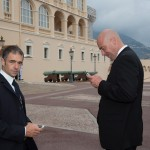 Fabrice Volpi, Sommelier de Monaco et Raphaël Bonniez, Vice-président des Sommeliers de Monaco devant le Palais Princier